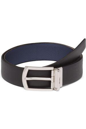Prada Hombre Cinturones - Reversible Saffiano leather belt