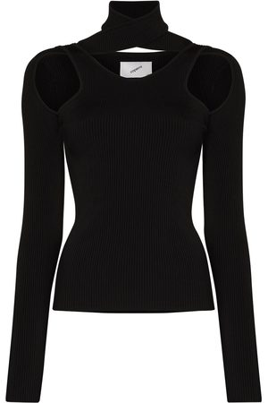 COPERNI Mujer Tops - Ribbed cut-out high neck top