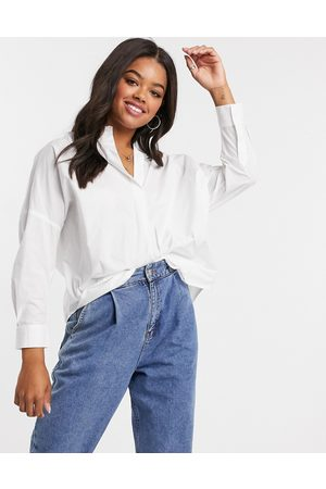 French Connection Cotton oversize shirt in white