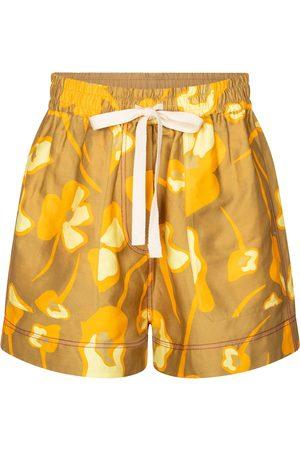 Lee Mathews Wren floral linen-blend shorts