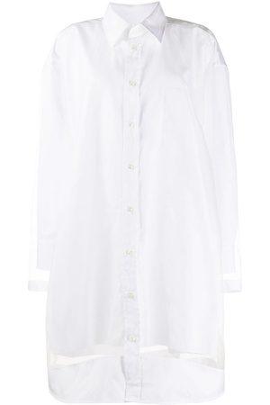 Maison Margiela Mujer Camiseros - Vestido camisero con paneles translúcidos