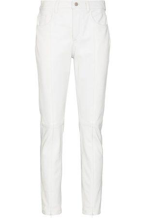 MM6 MAISON MARGIELA Pantalones slim con cierre en los tobillos