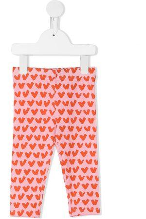 Stella McCartney Leggings y treggings - Heart-print leggings
