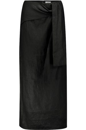 SIR Ambroise linen midi skirt