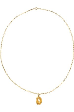 Alighieri The Eagle Traveller 24kt gold-plated necklace