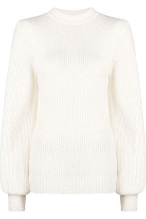 Ganni Suéter tejido de canalé
