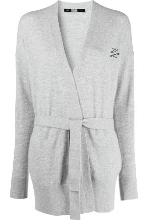Karl Lagerfeld Belted wrap cardigan