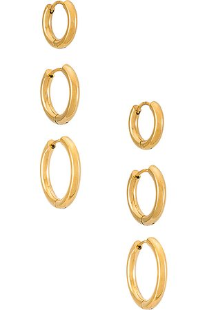 SHASHI Mujer Anillos - Set pendientes en color oro metálico talla all en - Metallic Gold. Talla all.