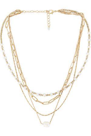 8 Other Reasons Collar zoe en color oro metálico talla all en - Metallic Gold. Talla all.