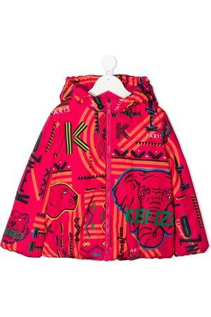 Kenzo Niña Bomber - Chamarra con capucha y logo