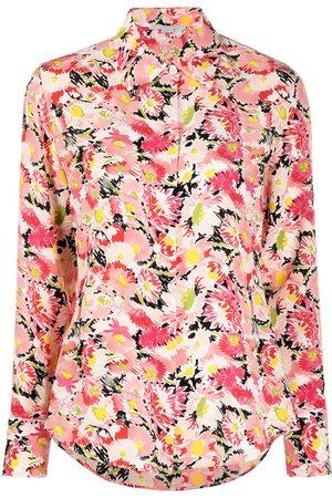 Stella McCartney Mujer Camisas - Camisa de seda con motivo floral