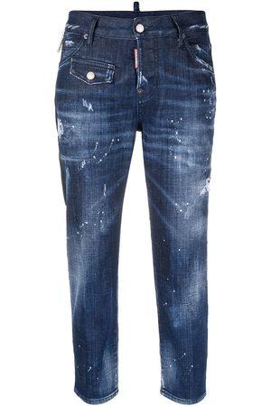 Dsquared2 Mujer Jeans - Jeans capri con efecto envejecido
