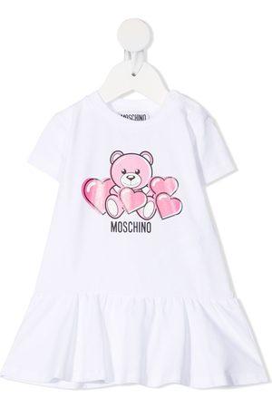Moschino Estampados - Vestido acampanado con motivo Teddy Bear