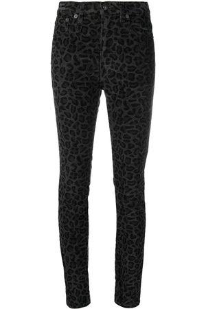 R13 Mujer Skinny - Skinny jeans con estampado de leopardo