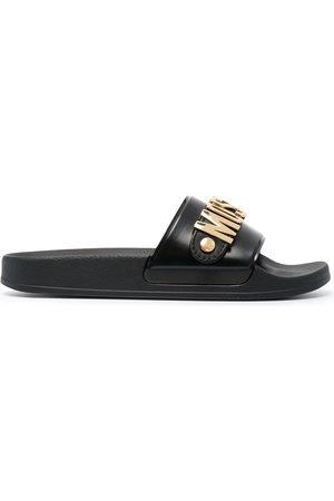 Moschino Mujer Flip flops - Sandalias con placa del logo