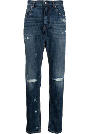 Dolce & Gabbana Hombre Skinny - Jeans slim con efecto rasgado