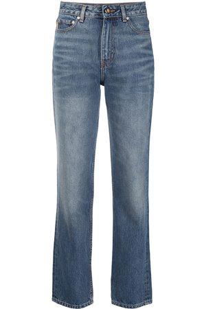 Ganni Jeans rectos con tiro alto