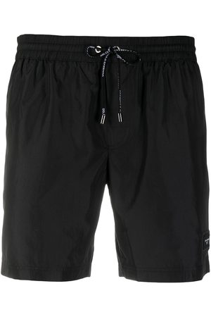 Dolce & Gabbana Hombre Trajes de baño - Shorts de playa con parche del logo