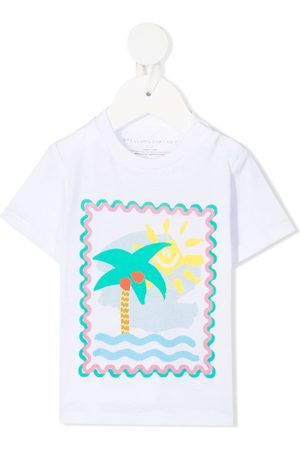 Stella McCartney Playera con palmeras estampadas