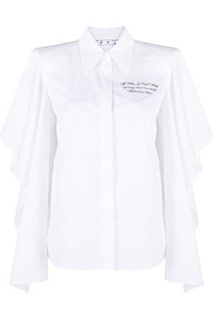 OFF-WHITE Mujer Camisas - Camisa con mangas vaporosas