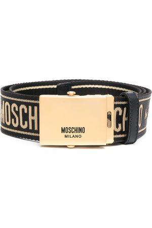 Moschino Cinturón de grosgrain con logo