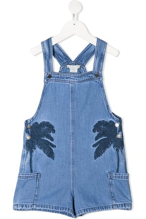 Stella McCartney Niña Overoles - Palm tree embroidered overalls
