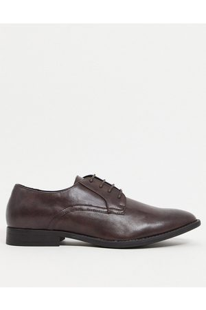 ASOS Derby shoes in brown faux leather