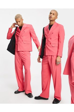 ASOS DESIGN Hombre Sacos - Boxy suit jacket in pink