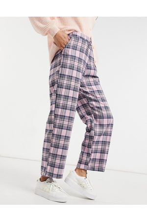 Skinnydip Relaxed trousers in pink check