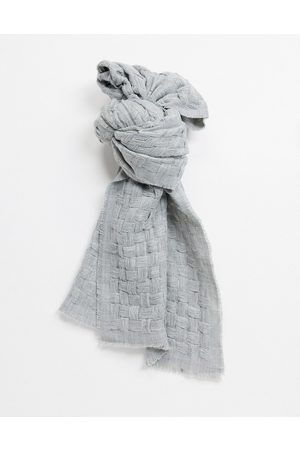 ASOS Weave scarf with raw edge in grey