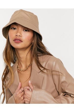 ASOS Cotton bucket hat with improved fit in stone