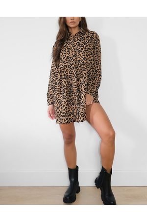 Missguided Mujer Camiseros - Shirt dress in leopard
