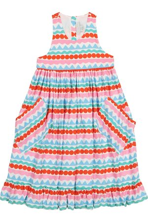 Stella McCartney Graphic Stripes crêpe dress
