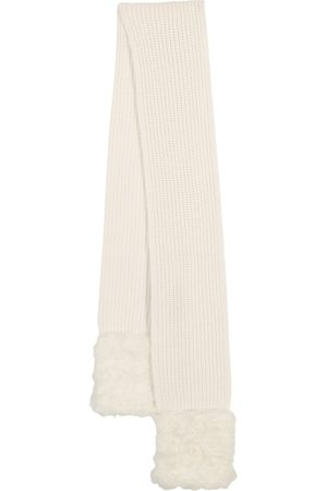 Moncler Mujer Bufandas - Faux fur, wool and cashmere scarf