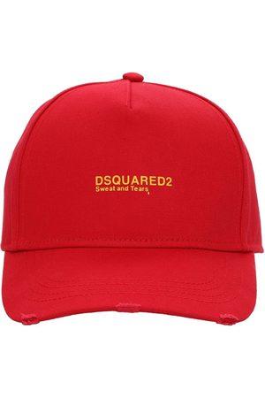 Dsquared2 Gorra De Gabardina De Algodón Con Logo Bordado