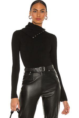 NBD Mujer Tops - Cuello vuelto harbor en color talla L en - Black. Talla L (también en XS, S, M, XL).