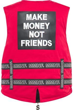 MAKE MONEY NOT FRIENDS Chaleco Con Cinturones Y Logo