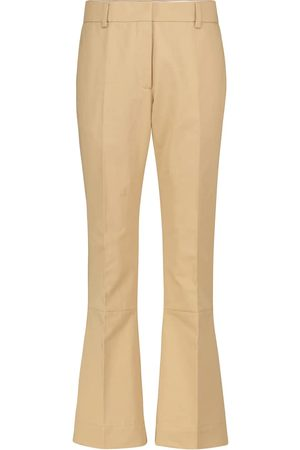 Marni High-rise wide-leg cotton and linen pants