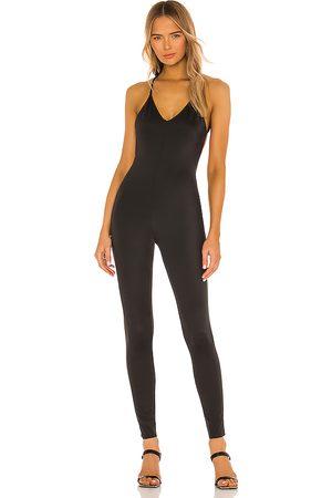 Norma Kamali Mujer Accesorios - Low back fara slip catsuit en color talla L en - Black. Talla L (también en M, S, XS).