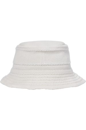Barrie Mujer Sombreros - Cashmere and cotton bucket hat