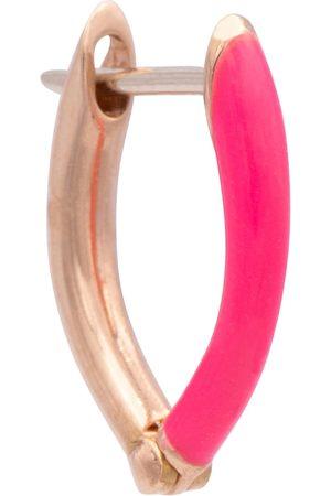Melissa Kaye Cristina 18kt rose gold single hoop earring