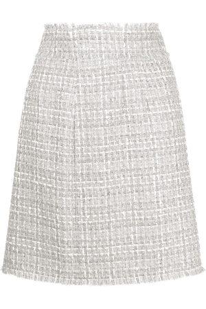 Dolce & Gabbana Falda de tweed con cintura alta