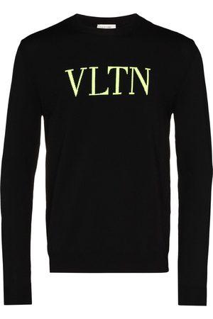 VALENTINO Suéter tejido con logo fluorescente