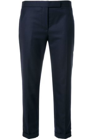 Thom Browne NAVY SUPER 120's TWILL SKINNY TROUSER