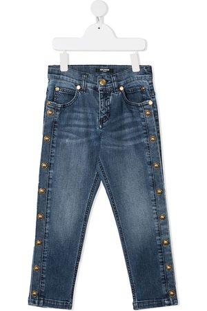 Balmain Skinny jeans con botones laterales