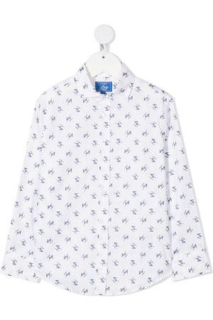 FAY KIDS Camisa con logo estampado