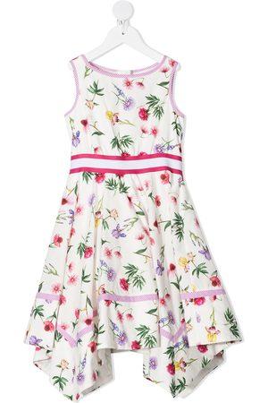MONNALISA Vestido asimétrico con estampado floral