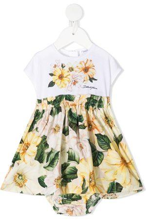 Dolce & Gabbana Vestido con volantes y estampado floral
