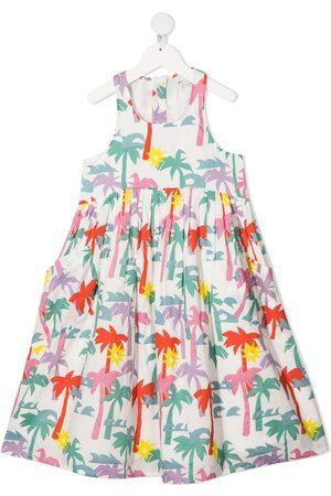 Stella McCartney Vestido con estampado de palmeras