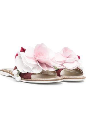 MONNALISA Sandalias slip-on con aplique floral